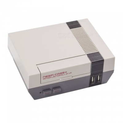Geekworm Raspberry Pi FC Style NES NESPI Case / Enclosure, Compatible with Raspberry Pi 3 Model B, 2B and B+