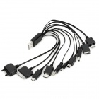 10-in-1 USB Powered Charging Cable for iPod/PSP/Cell Phones