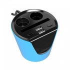 Universal Type Car-Double Cup Dual USB Intelligent Car Charger