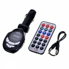 "1.0"" LCD Car MP3 Player FM Transmitter with IR Remote - Black"