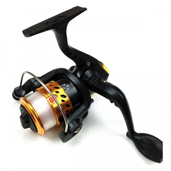 Spinning Wheel Type Electroplating Fishing Reel with 100m Line - YellowFishing Reels &amp; Rods<br>Form  ColorYellowQuantity1 DX.PCM.Model.AttributeModel.UnitMaterialABS + Metal + Fishing lineFishing Site River,Pool,Sea,Sea Boat Fishing,Rock Fishing,Reservoir,Stream,PondPacking List1 x Fishing Reel with line 100 meters1 x Packing box<br>