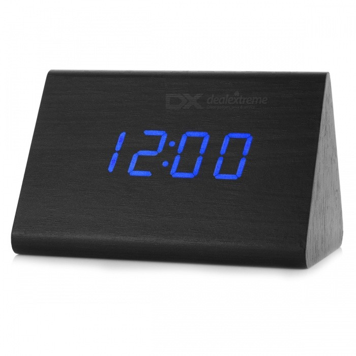 BSTUO Wooden Sound Control Digital LED Desktop Alarm Clock - Blackdesk clock<br>Form  ColorBlackModelN/AMaterialPVC + woodQuantity1 DX.PCM.Model.AttributeModel.UnitVoice Decibels60dbScreen TypeOLEDBattery included or notNoPower SupplyAABattery Number3Packing List1 x Clock1 x Power cable1 x User manual<br>