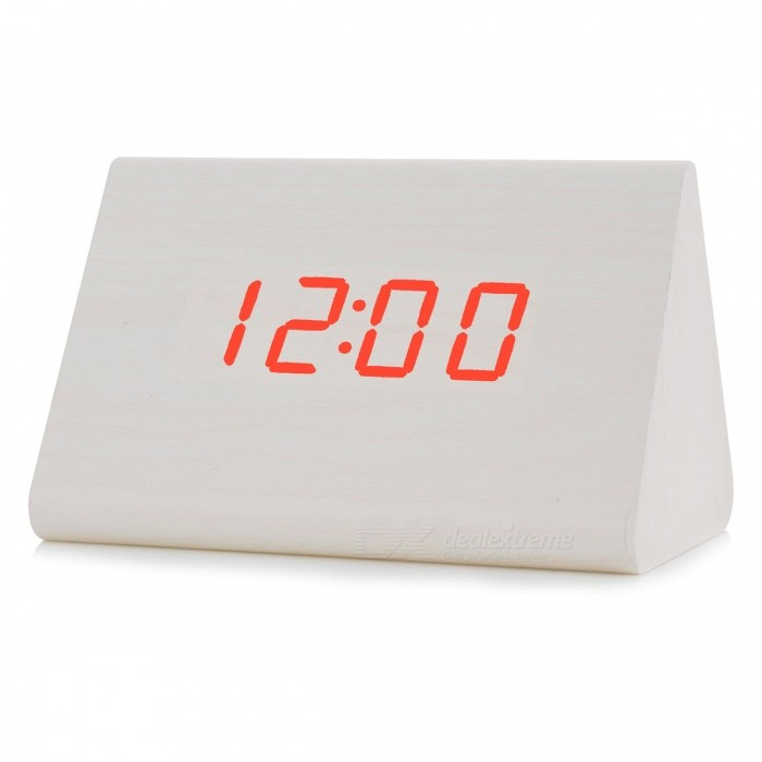 BSTUO Wooden Sound Control Digital LED Desktop Alarm Clock - Whitedesk clock<br>Form  ColorWhiteModelN/AMaterialPVC + woodQuantity1 DX.PCM.Model.AttributeModel.UnitVoice Decibels60dbScreen TypeOLEDBattery included or notNoPower SupplyAABattery Number3Packing List1 x Clock1 x Power cable1 x User manual<br>