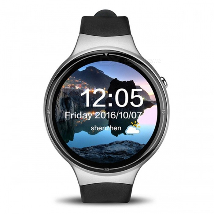 I4 Pro Bluetooth Android 5.1 MTK6580 Smart Watch with Wi-Fi, GPS, 2GB RAM 16GB ROM - Silver Grey + BlackSmart Watches<br>Form  ColorSilver Grey + Black + Multi-ColoredQuantity1 setMaterialABSShade Of ColorSilverCPU ProcessorMTK 6580Screen Size1.39 inchScreen Resolution400*400Touch Screen TypeYesNetwork Type2G,3GCellularWCDMA,GSMSIM Card TypeNano SIMBluetooth VersionBluetooth V4.0Compatible OSAndroid 5.1LanguageEnglishWristband Length22 cmWater-proofIP65Battery ModeNon-removableBattery TypeLi-polymer batteryBattery Capacity400 mAhStandby Time72 hourPacking List1 x Smart Watch1 x USB Cable1 x English Manual<br>
