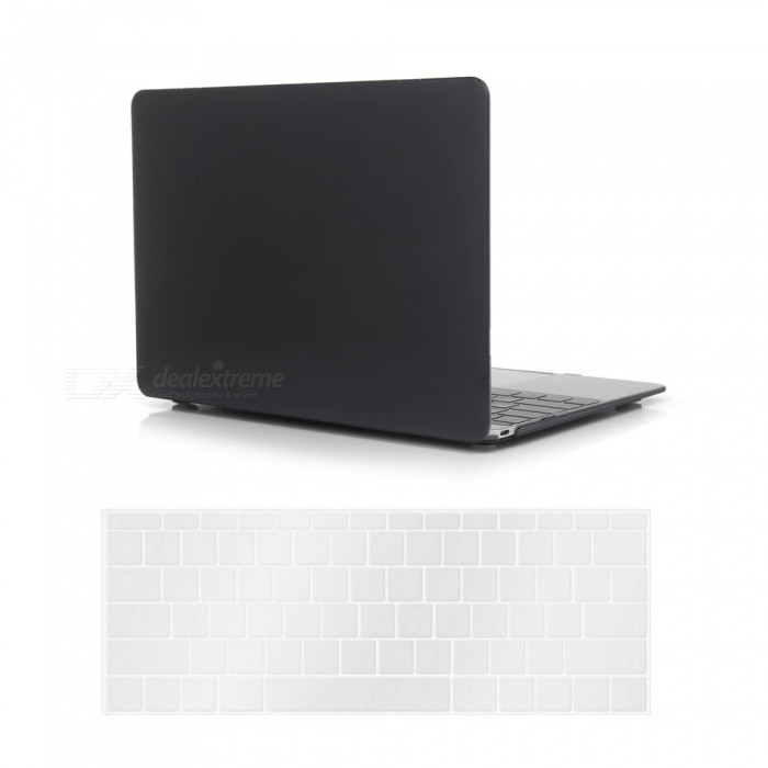 Dayspirit PC Crystal Case + Keyboard Cover for MACBOOK 12 A1534 - BlackNetbook&amp;Laptop Cases<br>Form  ColorTranslucent BlackModelN/AQuantity1 setShade Of ColorBlackMaterialPCCompatible ModelMacBook 12 inchCompatible BrandAPPLETypeFull Body CasesStyleBusiness,Casual,Fashion,ContemporaryCompatible SizeOthers,12 inchPacking List1 x Hard shell (top + bottom)1 x Keyboard cover<br>