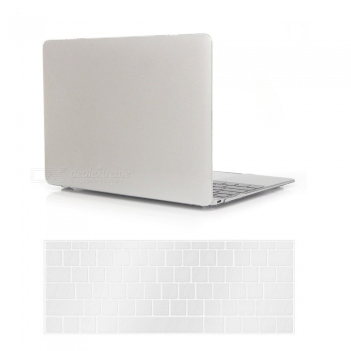 Dayspirit PC Crystal Case + Keyboard Cover for MacBook 12 A1534 - WhiteNetbook&amp;Laptop Cases<br>Form  ColorTransparentModelN/AQuantity1 setShade Of ColorTransparentMaterialPCCompatible ModelMacBook 12 inchCompatible BrandAPPLETypeFull Body CasesStyleBusiness,Casual,Fashion,ContemporaryCompatible SizeOthers,12 inchPacking List1 x Hard shell (top + bottom)1 x Keyboard cover<br>