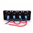IZTOSS S1682 16A 12V DC 4-Group Switch Panel with Cap and Cable for Car, RV, Ship Refit