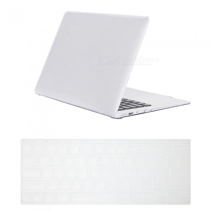 "Dayspirit Ultra Slim Crystal Hard Case + Keyboard Cover for MacBook Air 11.6"" A1370 / A1465 - White"