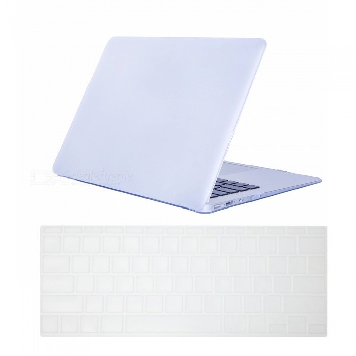 Dayspirit Ultra Slim Matte Hard Case + Keyboard Cover for MacBook Air 11.6 A1370 / A1465 - WhiteNetbook&amp;Laptop Cases<br>Form  ColorWhiteModelN/AQuantity1 DX.PCM.Model.AttributeModel.UnitShade Of ColorWhiteMaterialPCCompatible ModelMacBook Air 11.6Compatible BrandAPPLETypeFull Body CasesStyleBusiness,Casual,Fashion,ContemporaryCompatible Size11.6 inchPacking List1 x Hard shell (top + bottom)1 x Keyboard cover<br>