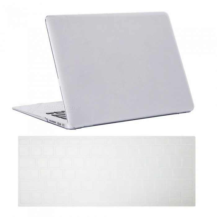 Dayspirit Ultra Slim Crystal Hard Case + Keyboard Cover for MacBook Air 13.3 A1369/A1466 - WhiteNetbook&amp;Laptop Cases<br>Form  ColorTransparentModelN/AQuantity1 DX.PCM.Model.AttributeModel.UnitShade Of ColorTransparentMaterialPCCompatible ModelMacBook Air 13.3Compatible BrandAPPLETypeFull Body CasesStyleBusiness,Casual,Fashion,ContemporaryCompatible Size13.3 inchPacking List1 x Hard shell (top + bottom)1 x Keyboard cover<br>