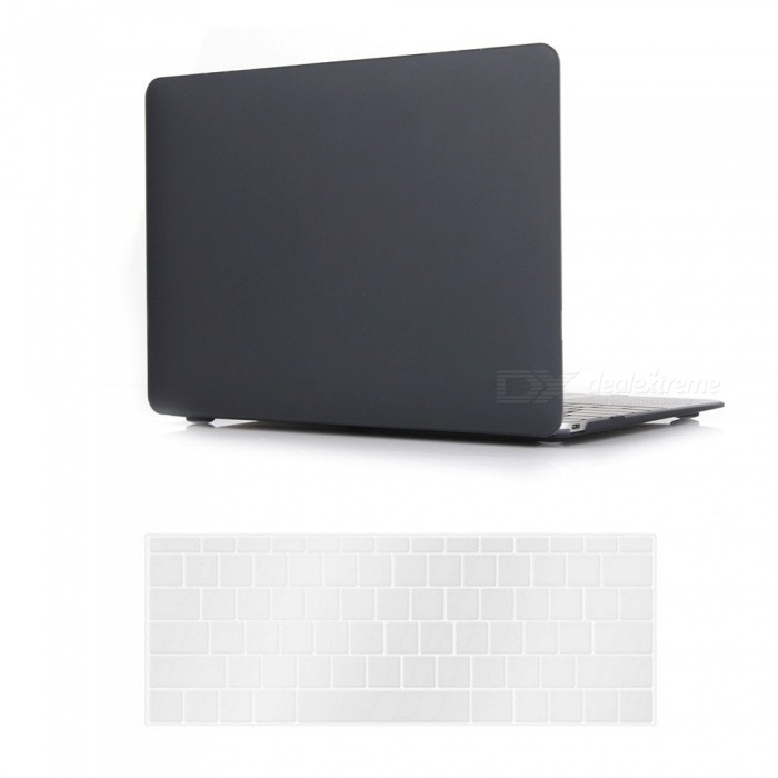 Dayspirit PC Matte Case + Keyboard Cover for MACBOOK 12 A1534 - BlackNetbook&amp;Laptop Cases<br>Form  ColorBlackModelN/AQuantity1 DX.PCM.Model.AttributeModel.UnitShade Of ColorBlackMaterialPCCompatible ModelMacBook 12 inchCompatible BrandAPPLETypeFull Body CasesStyleBusiness,Casual,Fashion,ContemporaryCompatible SizeOthers,12 inchPacking List1 x Hard shell (top + bottom)1 x Keyboard cover<br>