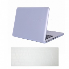 """Dayspirit Ultra Slim Matte Hard Case + Keyboard Cover for MacBook Pro 13.3"""" with CD-ROM A1278 - White"""