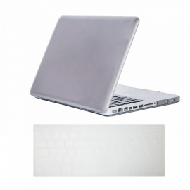 """Dayspirit Ultra Slim Crystal Hard Case + Keyboard Cover for MacBook Pro 13.3"""" with CD-ROM (A1278) - Gray"""