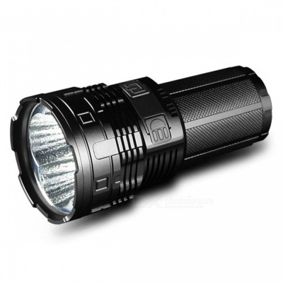 IMALENT DT70 Universal 16000 Lumens USB Rechargeable LED Tactical Flashlight with Multi Output Levels - Black