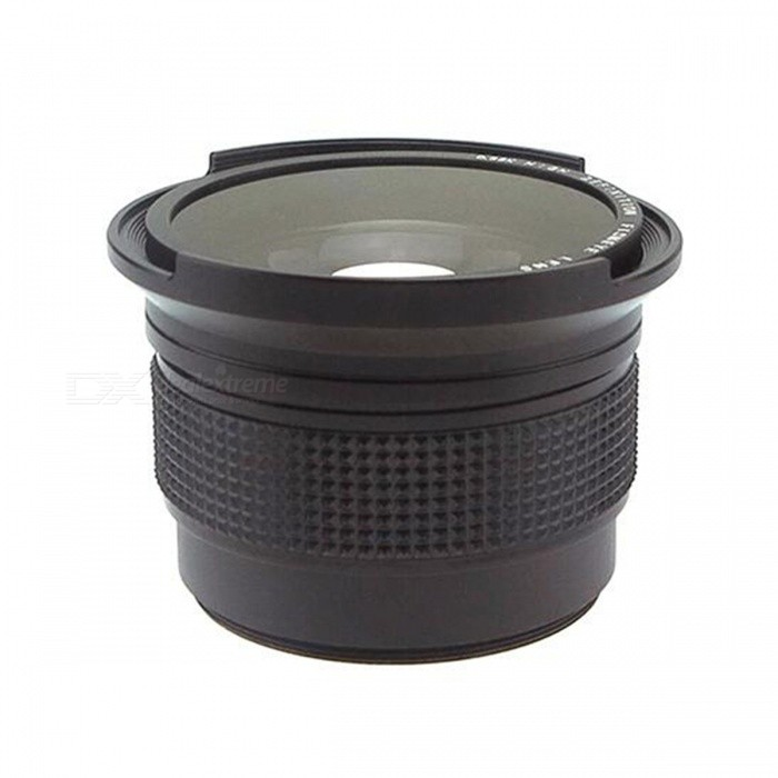 52mm Camera General Type 0.35X Fisheye Lens - BlackLenses<br>Form  ColorBlackLens Diameter52mmModel3352MaterialABS+Optical glass + coatingQuantity1 pieceCompatible BrandUniversal 52mmCompatible ModelsUniversal 52mmViewing AngleOthers,180 °Focal Distance8 mmPacking List1 x Fisheye Lens (52mm)2 x Lens Caps (Front And Back)1 x Storage Bag<br>