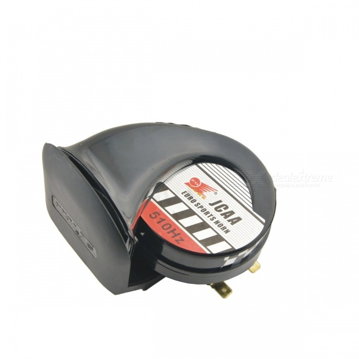 JCAA Snail Shaped DIY Motorcycle Ultra Loud Electronic Horn Speaker - BlackMotorcycle Alarm &amp; Security<br>Form  ColorBlack + MulticolorModelN/AQuantity1 DX.PCM.Model.AttributeModel.UnitMaterialPVC + aluminumTypeOthersApplicationBodySpeaker Power20~30 DX.PCM.Model.AttributeModel.UnitSpeaker Volume110 DX.PCM.Model.AttributeModel.UnitPower Supply12VWaterproof FunctionYesInstallation MethodUse it to replace the original speaker on your motorcycle.Other FeaturesUltra loud voice; Detachable and durable; Delicate design; Up to 8~10 years of service life; Suitable for any model.Packing List1 x Speaker<br>