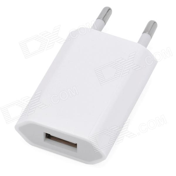 White USB Power Adapter/Charger For Iphone 4 (100~240V/EU