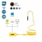 BLCR IP68 Wi-Fi Endoscope Borescope Inspection Camera 2.0MP 1200p HD Snake Camera with 8 Adjustable LED Light (2M)