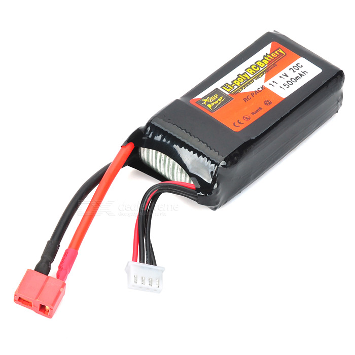 11.1V 1500mAh 20C Replacement Li-Poly Battery Pack for RC Helicopter/KT Model