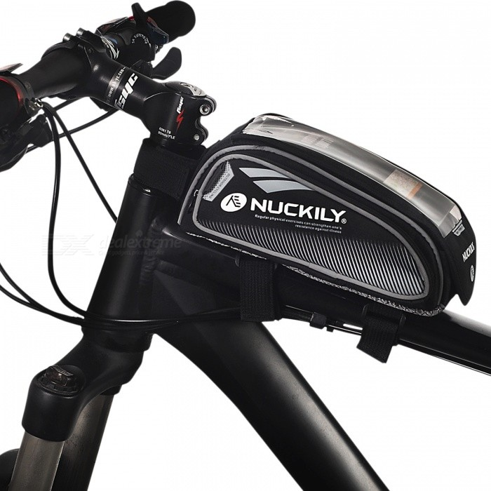NUCKILY PL06 Touch-screen Bike Front Frame Saddle Bag for Mobile Phone - GreyBike Bags<br>Form  ColorGreyModelPL06Quantity1 DX.PCM.Model.AttributeModel.UnitMaterialNylon OxfordTypeSaddle BagsCapacity0 DX.PCM.Model.AttributeModel.UnitWaterproofYesGenderUnisexBest UseCycling,Mountain Cycling,Recreational Cycling,Road Cycling,Triathlon,Bike commuting &amp; touringPacking List1 x Saddle Bag<br>