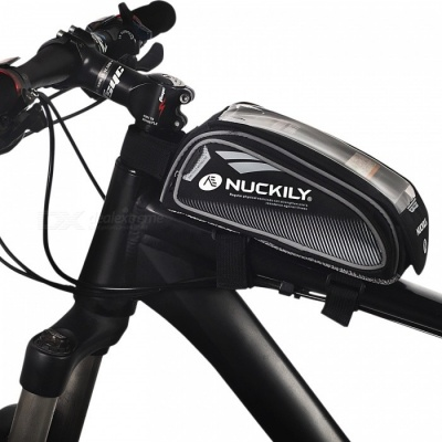 NUCKILY PL06 Touch-screen Bike Front Frame Saddle Bag for Mobile Phone - Grey