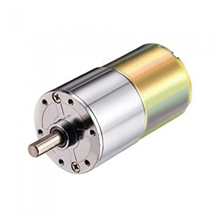 ZHAOYAO 37RG DC 12V 100RPM Micro Gear Box Motor, Speed Reduction Electric Gearbox with Centric Output ShaftMotors<br>Form  ColorSilver (100RPM) Model37RGQuantity1 DX.PCM.Model.AttributeModel.UnitMaterialIronEnglish Manual / SpecNoDownload Link   -Packing List1 x Motor<br>