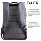 "DTBG D8053W Nylon Ultra Lightweight Water Resistant 15.6"" Travel Business Backpack, College Backpack School Bag - Grey"