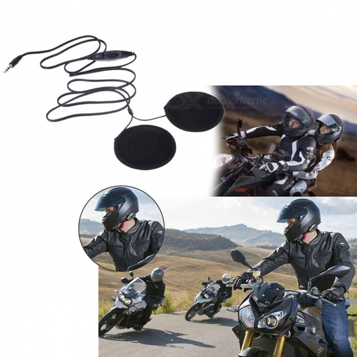 Motorbike Motorcycle Helmet Speakers with Volume Control for MP3 MP4 GPS Cellphones Mobile PhonesMotorcycle Interphone<br>Form  ColorBlackModel-Quantity1 DX.PCM.Model.AttributeModel.UnitMaterialABSApplicationOthersInterface1 x 3.5mmPacking List1 x Headset Speaker<br>