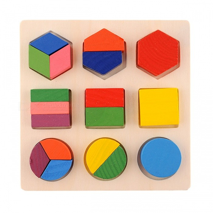Wooden Building Block Montessori Early Educational Toy for Kids BabyEducational Toys<br>Form  ColorColorfulModelN/AMaterialWoodenQuantity1 setSuitable Age 3-4 years,5-7 yearsPacking List1 Set x Building blocks<br>