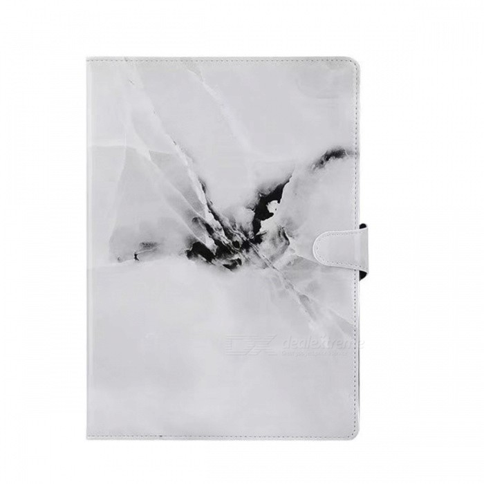 Shockproof Flip-Open Full Body Marble Hard PU Leather Case with Stand, Card Holder for IPAD (2017) 9.7 - WhiteTablet Cases<br>Form  ColorWhiteModelIPAD 2017 9.7Quantity1 DX.PCM.Model.AttributeModel.UnitShade Of ColorWhiteMaterialPU LeatherCompatible ModelIPAD 2017 9.7Compatible BrandOthers,AppleTypeCases with Stand,Leather Cases,Others,MarbleCompatible SizeOthers,9.7inchesPacking List1 x PU Leather Case<br>