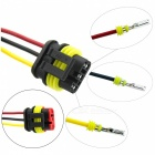 Qook 5 Kit 3-Way Car Waterproof Electrical Male Female Wire Cable Connector Plug