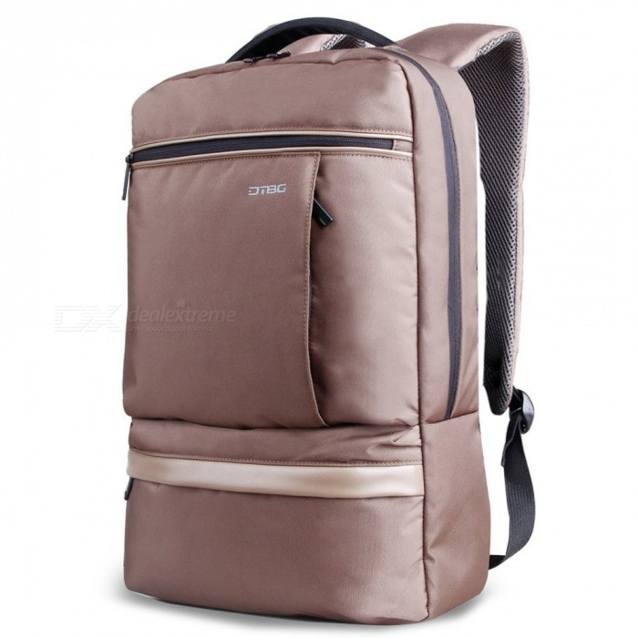 DTBG D8053W Nylon Ultra Lightweight Water Resistant 15.6 Travel Business Backpack, College Backpack School Bag - CoffeeBags and Pouches<br>Form  ColorCoffeeModelD8053WQuantity1 pieceShade Of ColorBrownMaterialNylonCompatible Size15.6 inchTypeBackpacksPacking List1 x Backpack<br>