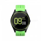 V9 Bluetooth Smart Watch Phone Support 2G Micro SIM Card, With Camera, Pedometer, Heart Rate Monitoring - Green