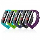 G19 Smart Bracelet Heart Rate Blood Pressure Blood Oxygen Monitoring - Purple + Black
