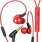 Buy NUBWO NY51 Sports Waterproof Headset Bass Headphones In-ear Earphone MIC IPHONE, Samsung, Xiaomi, Huawei, Sony - Red