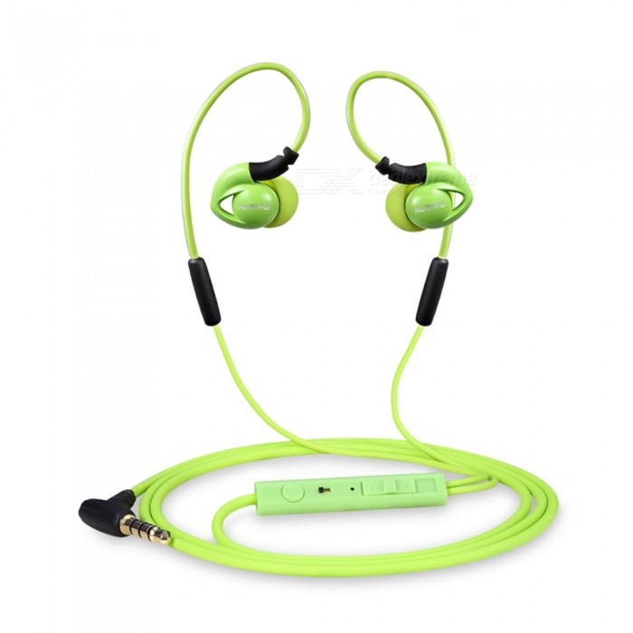 NUBWO NY51 Sports Waterproof Headset Bass Headphones In-ear Earphone with MIC for IPHONE, Samsung, Xiaomi, Huawei, Sony - GreenHeadphones<br>Form  ColorGrass GreenBrandOthers,NUBWOModelNY51MaterialABSQuantity1 setConnection3.5mm WiredBluetooth VersionNoCable Length120 cmLeft &amp; Right Cables TypeEqual LengthHeadphone StyleUnilateral,Earbud,In-EarWaterproof LevelIPX4Applicable ProductsUniversal,IPHONE 7,IPHONE 7 PLUSHeadphone FeaturesHiFi,Phone Control,Noise-Canceling,Volume Control,With Microphone,For Sports &amp; ExerciseRadio TunerNoSupport Memory CardNoSupport Apt-XNoChannels2.0Sensitivity98dB/mWTHDFrequency Response20-20000HzImpedance16 ohmPacking List1 x NY51 Earphones1 x Manual<br>