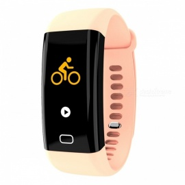 F07 Smart Bluetooth Bracelet  Heart Rate Monitor Pedometer Sports Fitness Tracker - Red