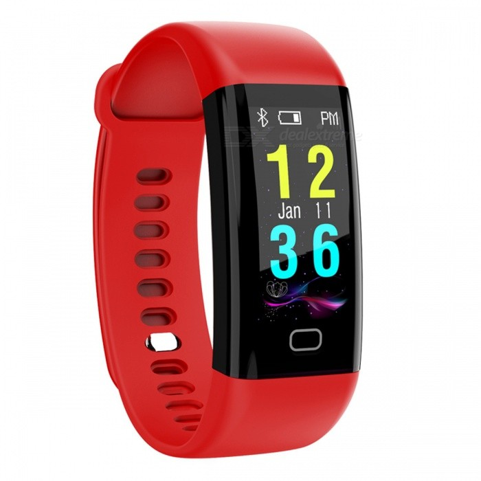 F07 Smart Bluetooth Bracelet  Heart Rate Monitor Pedometer Sports Fitness Tracker - RedSmart Bracelets<br>Form  ColorRed + BlackQuantity1 setMaterialABSShade Of ColorRedWater-proofIP68Bluetooth VersionBluetooth V4.0Touch Screen TypeYesCompatible OSAndroid 4.4&amp; above ,iOS 7.1 &amp; aboveBattery Capacity110 mAhBattery TypeLi-polymer batteryStandby Time5-7 daysPacking List1 x Smart Bracelet1 x User Manual<br>