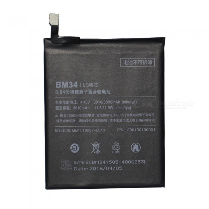 Replace BM34 Smartphone Built-in Battery for Xiao Mi Note Pro