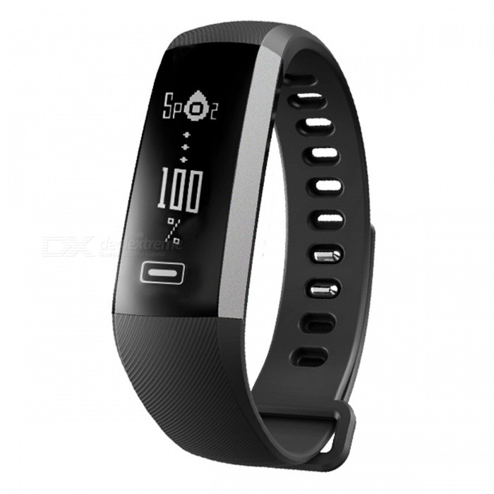 R5 PRO 0.86 OLED Screen Smart Wrist Band Bracelet with Heart Rate Monitor, Blood Pressure Oxygen Oximeter - BlackSmart Bracelets<br>Form  ColorBlackModelR5 PROQuantity1 DX.PCM.Model.AttributeModel.UnitMaterialPlasticShade Of ColorBlackWater-proofIP67Bluetooth VersionBluetooth V4.0Touch Screen TypeOthers,0.86 inch OLEDCompatible OSAndroid 4.4 and above, IOS8.0 and above. (With Bluetooth 4.0)Battery Capacity60 DX.PCM.Model.AttributeModel.UnitBattery TypeLi-polymer batteryStandby Time3-5 DX.PCM.Model.AttributeModel.UnitPacking List1 x Smart band1 x Charging cable<br>