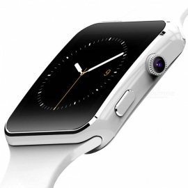 montre intelligente sur poignet bluetooth smartwatch - blanc