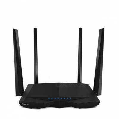 Tenda AC6 1200Mbps 2.4G/5.0GHz Smart Gigabit Wireless Wi-Fi Router Repeater, APP Remote Manage, English Firmware - Black
