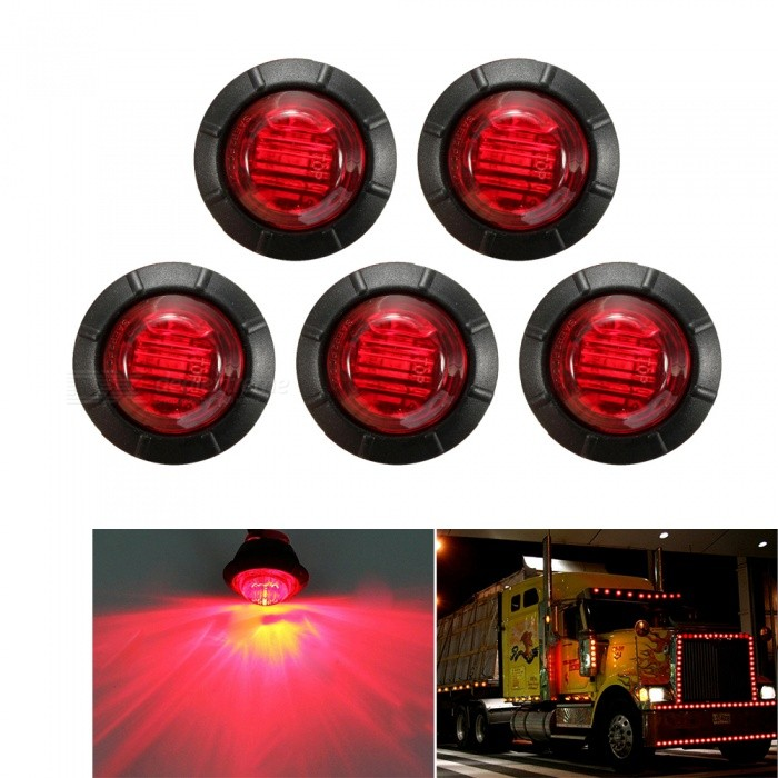 YWXLight Car Side Marker LED Light, Turn Signal Indicator Lamp - Red Light (5 PCS)Decorative Lights / Strip<br>Color BINRedModelN/AQuantity5 DX.PCM.Model.AttributeModel.UnitMaterialABS PlasticForm  ColorRedEmitter Type3528 SMD LEDChip BrandOthersTotal Emitters3Rate VoltageDC 12VPower5WTheoretical Lumens500 DX.PCM.Model.AttributeModel.UnitActual Lumens450 DX.PCM.Model.AttributeModel.UnitWater-proofYesApplicationDecoration light,License plate light,Indicator lamp,Tail light,Side lightPacking List5 x YWXLight car lamps<br>