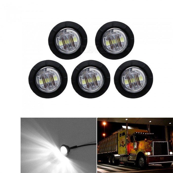 YWXLight Car Side Marker LED Light, Turn Signal Indicator Lamp - White Light (5 PCS)Decorative Lights / Strip<br>Color BINCold WhiteModelN/AQuantity5 DX.PCM.Model.AttributeModel.UnitMaterialABS PlasticForm  ColorWhiteEmitter Type3528 SMD LEDChip BrandOthersTotal Emitters3Color Temperature6000-6500 DX.PCM.Model.AttributeModel.UnitRate VoltageDC 12VPower5WTheoretical Lumens500 DX.PCM.Model.AttributeModel.UnitActual Lumens450 DX.PCM.Model.AttributeModel.UnitWater-proofYesApplicationDecoration light,License plate light,Indicator lamp,Tail light,Side lightPacking List5 x YWXLight Car Lamps<br>