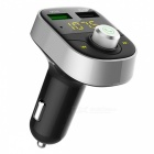 KELIMA HY82S Dual USB Car Charger, FM Transmitter, MP3 Player Bluetooth Hands-Free Kit - Black