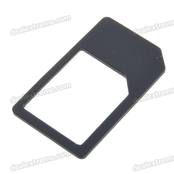 Micro Sim Card to Standard Sim Card Adapter for Iphone 4/Ipad (Black)
