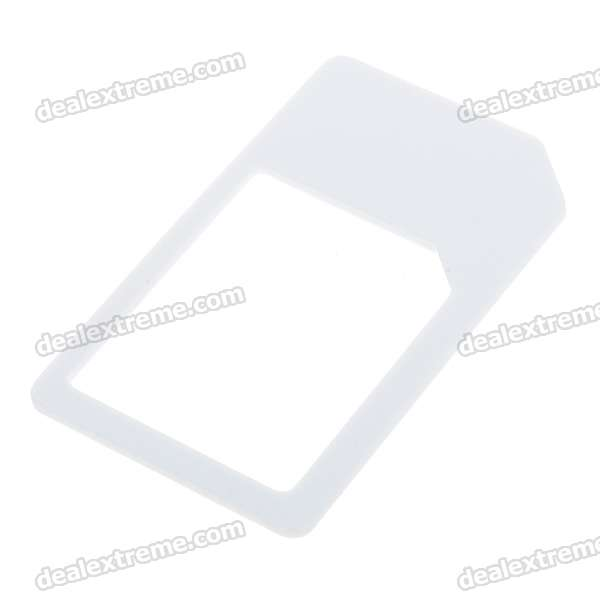 Micro Sim Card to Standard Sim Card Adapter for Iphone 4/Ipad (White)