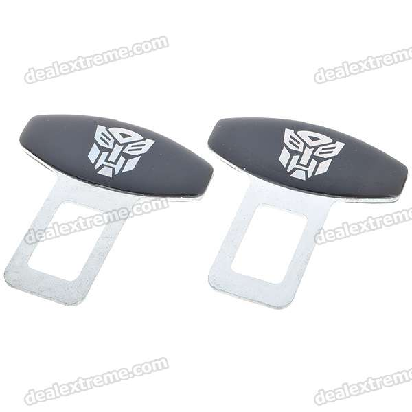Autobot Style Replacement Stainless Steel Buckles for Vehicle Safety Seatbelts (2-Pack)