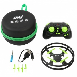 Dwi D1 Mini Drone RC Quadcopter Nano Pocket Helicopter - Green