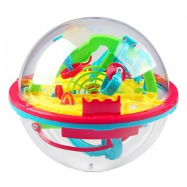 Mini 100 Levels 3D Magic Puzzle Ball Balance Logic Ability Game Educational Toy for Kids Children
